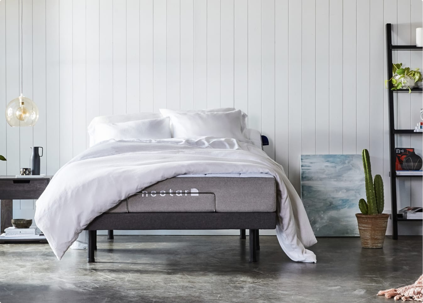 Nectar's Adjustable Bed Frame with Mattress