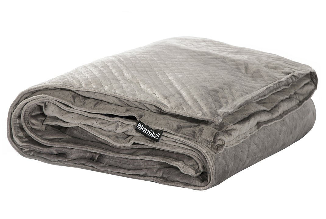 blanquil's quilted weighted blanket - folded