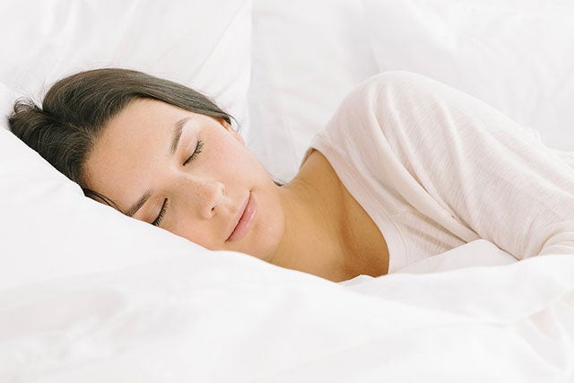 girl sleeping on nectar's soft King sheet set